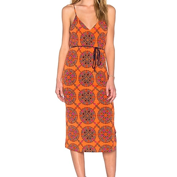 8b99a044bad201 Tigerlily Dresses | Tiger Lily Orange Medallion Print Dress | Poshmark